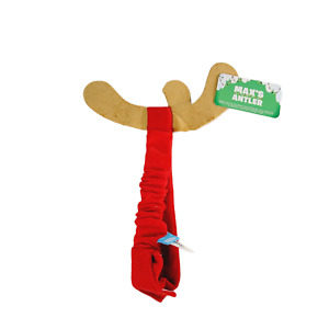 Bark Box Max's Antler Grinch Fabric Dog Hat Accessory Christmas Costume M/L
