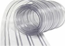 "Strip Door Curtain 150' Roll - 8"" Wide Ribbed Scratch Resistant Vinyl"