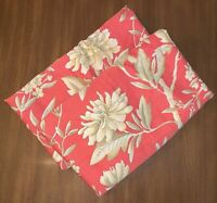 2 RALPH LAUREN VILLA CAMELIA King Size Pillow Shams Red Gold Floral 38x22