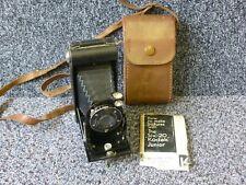 Vintage Kodak Six - 20 Junior Folding Bellows Camera & Leather Case
