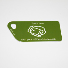 5  X Green Call To Action NFC Tag Plastic Key Cards NTAG213 Android  Samsung