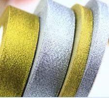 25 Yards Gold/Silver Sheer Organza Ribbon Home Wedding Decor DIY Sewing Craft