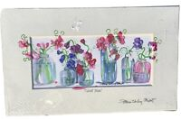 Hand Signed  & Titled - Sweet Peas - WATERCOLOR Art PRINT by Patricia Shilling