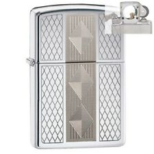 Zippo 29424 Lasered Diamond Pattern Lighter with PIPE INSERT PL
