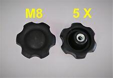 5x M8 Sterngriff Sternschraube Sternmutter Kreuzgriff  Klemmmutter Neu