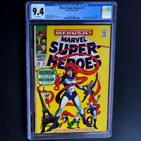 MARVEL SUPER-HEROES #15 💥 CGC 9.4 WHITE PGs 💥 ONLY 10 HIGHER! MEDUSA INHUMANS
