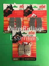 SBS 809HS 834LS HONDA CBR 1000 RR FIREBLADE ABS 2009-UPWARD FRONT+REAR PADS