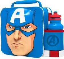 CAPTAIN AMERICA Insulated 3D Lunch Bag Box And Drink Sport Water Bottle Set