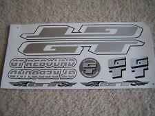 GT Rebound Stickers  Silver, White & Black.