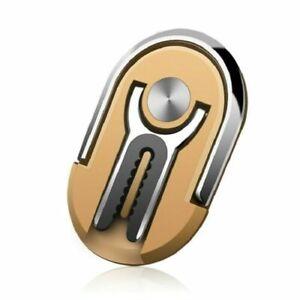 CELLPHONE CAR HOLDER ROTATES 360 & SWIVELS 90  FINGER RING COLOR GOLD NEW