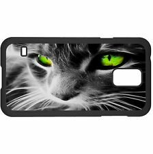 Gray Cat With Green Eyes Hard Case Cover For Samsung New