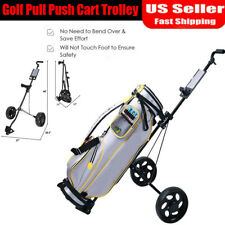 Folding Pull Push Golf Cart 2 Wheel Trolley Swivel with Score Board & Bag Holder