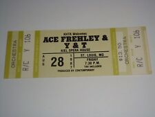 ACE FREHLEY UNUSED 1987 CONCERT TICKETS Kiss KIEL OPERA HOUSE ST LOUIS USA Y & T
