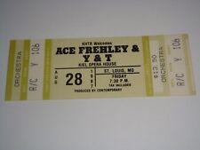 ACE FREHLEY UNUSED 1987 CONCERT TICKETS Kiss KIEL OPERA HOUSE ST LOUIS USA green