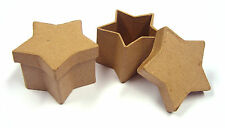 papier mache boxes x 10 star shaped box craft projects paper cardboard