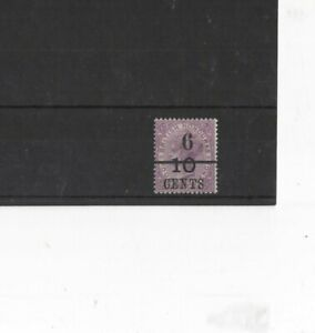 BRITISH HONDURAS , 1891, SG44 TYPE 1 6c 0n 10c on 4d MAUVE (BLK) , MH     G.C.V.