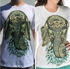 Electro Threads Zoo-Doodle GANESHA T-Shirt Mens S Ladies M Super Soft Hand Drawn