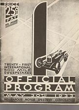1933 Indianapolis 500 Reprint Program Louis Meyer Miller/Miller