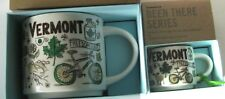 SET Vermont Starbucks ESPRESSO Cup & Coffee MUG Been There Series - 2 oz & 14 oz