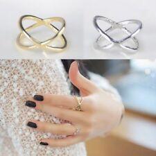 Lot de 2 BAGUES doré et argenté anneaux fantaisie pour femme