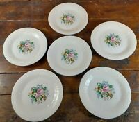 Set of 6 Salad Plates Victorian Rose Tabletops Unlimited Dinnerware China 7.75""