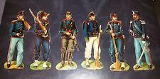 Lot n.2 di 6 anciens soldats de plomb papier objets collection formulaire