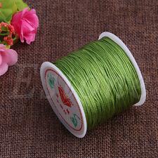 0.8mm Nylon Cord Thread Chinese Knot Macrame Rattail Bracelet Braided String 45M