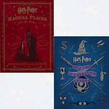 Harry Potter 2 Books Collection Set Magical Places, Artifact Vault NEW UK
