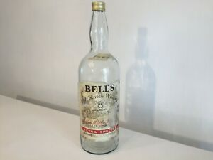 Vintage Very Large 4.5 Litre Bell's Scotch Whisky Bottle Man Cave Bar Money Box