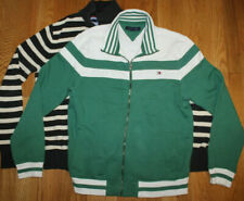 Lot of Two Tommy Hilfiger Medium M Full Zip and 1/4 Button Sweaters Blue Green