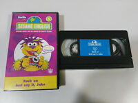 SESAME ENGLISH BARRIO SESAMO APRENDE INGLES - VHS CINTA TAPE CASTELLANO &