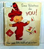 Vintage Norcross Pixie 1950's King Size Pop Up Valentines Day Card