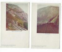 2 Postcard Lot White Mountains New Hampshire Railroad Postcard undivided back