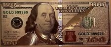 One (1) US$100 Banknotes USD Rare Silver Foil New Edition Paper Money Dollar-A