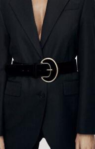 ZARA VELVET BELT Black  Size 32 ❤️