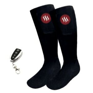 Heated ski socks with remote control Glovii, sizes 5-7.5, 8-12, batteries, GQ2