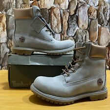 Womens Timberland Premium 6 Inch Boots, Gray / Bronze A1Jg8 New in Box 7.5M