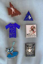 #D202. Six Australian Squash Masters Lapel Badges