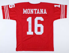 JOE MONTANA Signed Autographed Red Jersey JSA COA