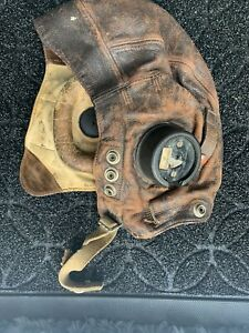 WW2 RAF Leather Flying Helmet