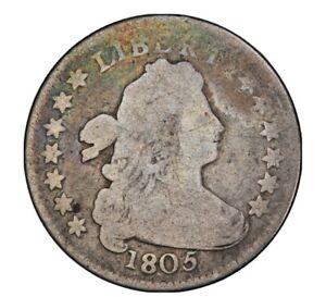 1805 Draped Bust Dime 10c Very Good  Rare