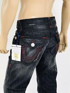 $405 Super T Dreams True Religion Men Jean Super T Mega T Black 34 36 MO8859WA1
