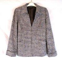 Lafayette 148 New York Women Tweed Jacket Blazer Sz 12 Wool Blend Career CC632