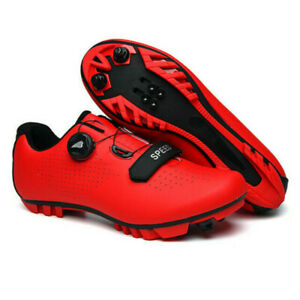 New Speed Mountain Cycling Shoes Men Bike Racing Road Sneakers Spin Peloton Red