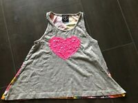 Flowers By Zoe Girls Tank Top Size S 7/8 Sequins Tie dye Grey Nordstrom's