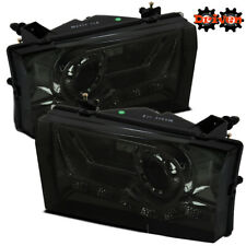 99-04 Ford F250 F350 Super Duty Excursion Smoked Projector Headlights w/LED DRL