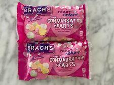 Brach's Tiny Conversation Hearts 7oz X2 Bags Fresh Valentine Fruit Berry Flavors