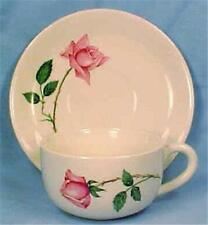Bermuda Rose Cup & Saucer Canonsburg Pottery Vintage Retro Mid Century Modern