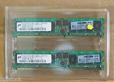 HP 1Gb Micron Memory 373028-051 2x 512MB DDR2 CL3 ECC REG RAM Server Memory