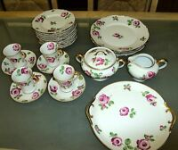 Antique Chas Field Haviland GDA France Rose Luncheon / Dinner Set